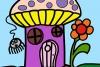 蘑菇房子填�色
