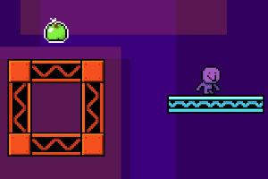 紫色小人吃水果