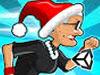 愤怒的老奶奶玩酷跑圣诞版