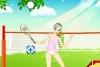 漂亮MM打网球