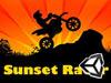 日落下的摩托赛车手