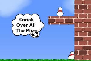 足球撞击保龄球
