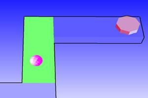 奔跑的3D彩球