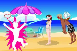 电眼女生沙滩版