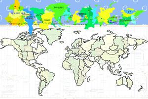 拼接世界地图