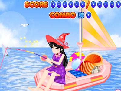 女魔法师钓鱼