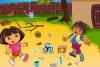 朵拉和迭戈清理院子