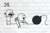 铅笔画小人23