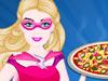 芭比超人做鸡肉比萨