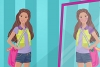 芭比娃娃和有趣的镜子