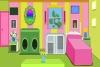 彩色婴儿房里的逃生