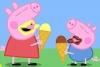 粉红猪吃冰激凌