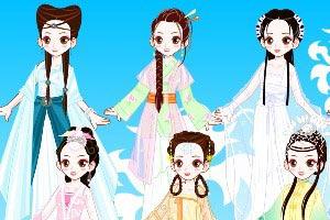 古代妃子化妆小游戏