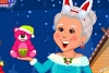 打扮圣诞奶奶