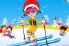 可爱滑雪装