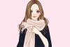 时尚围巾装扮